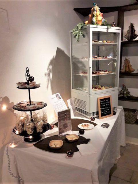 Pâtisseries huiles essentielle, événement, Pérouges marché de Noël, Géranium Framboise
