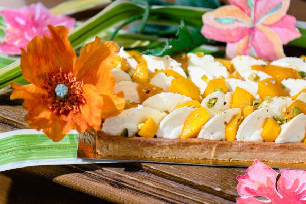 Tarte Mangue Mandarine, Pâtisseries Huiles Essentielles, Géranium Framboise