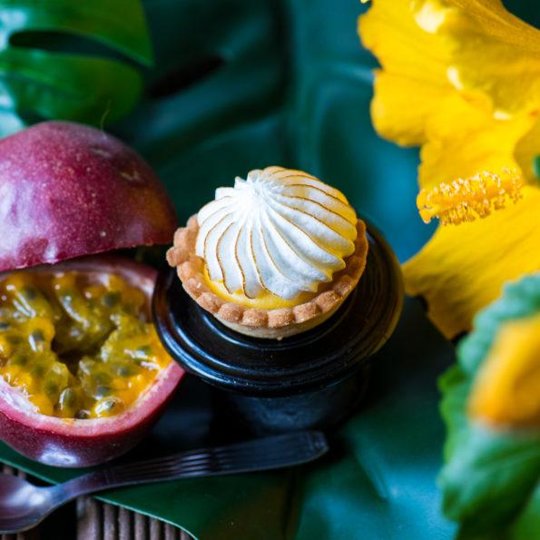 Mignardise Passion Orange, Pâtisseries Huiles Essentielles bio, Géranium Framboise Lyon
