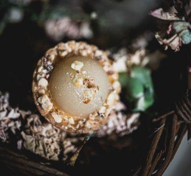 Mignardise Poire Amande, Pâtisseries Huiles Essentielles, Géranium Framboise