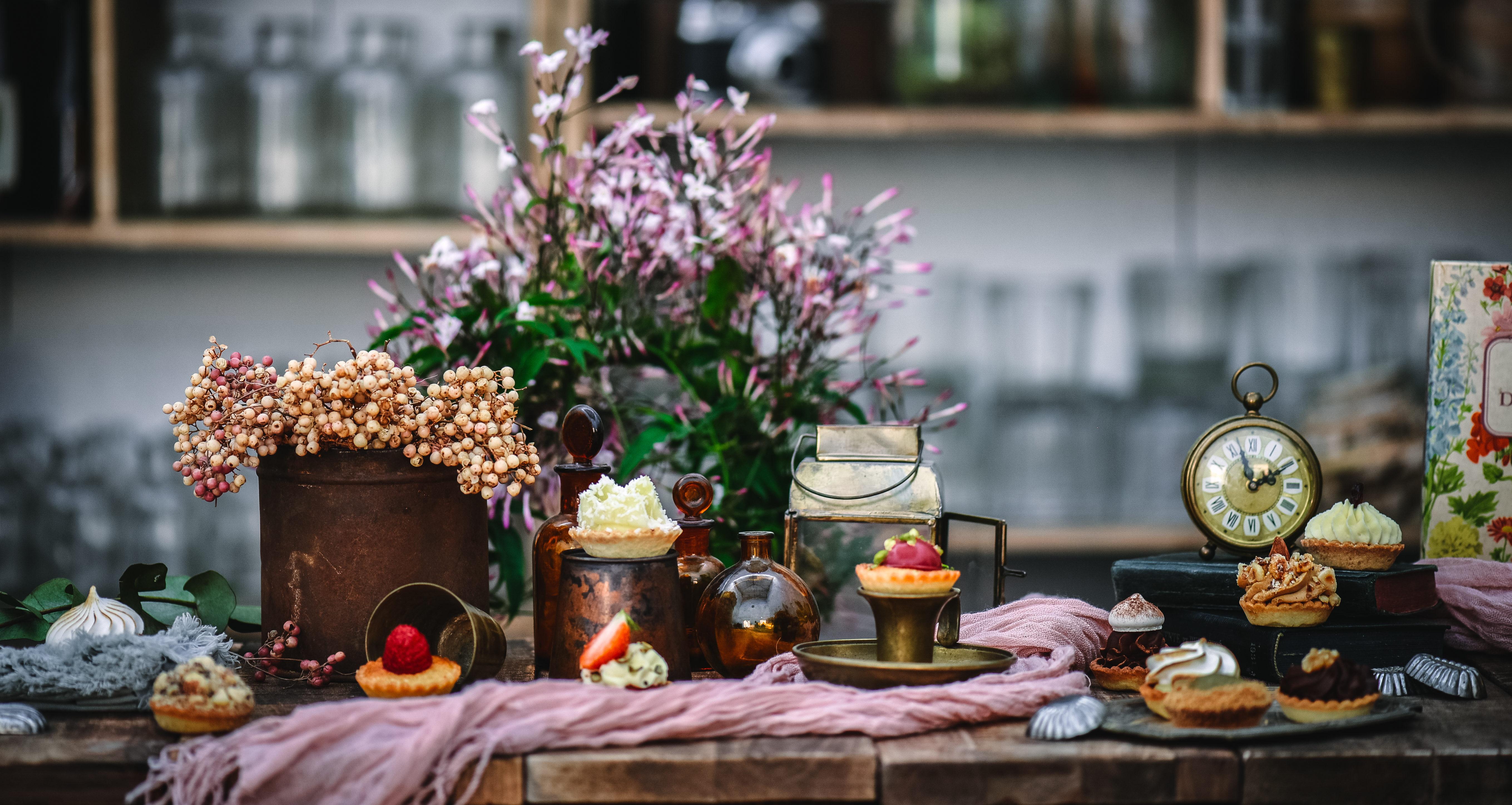 Mignardises Pâtisseries huiles essentielles naturel Géranium Framboise