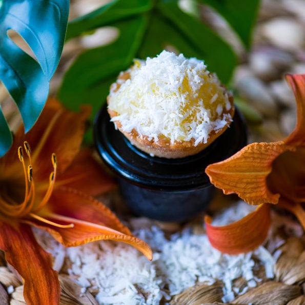 Mignardise Ananas Citron vert coco, Pâtisseries Huiles Essentielles bio, Géranium Framboise Lyon