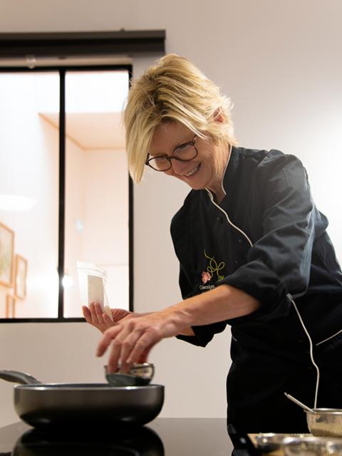 Atelier bien etre et gourmandise Rhone Lyon Géranium framboise patisserie bio huile essentielle-6