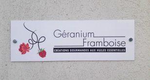 Labo, Pâtisseries Huiles Essentielles, Géranium Framboise