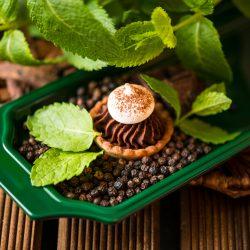 Mignardise Choco Mint, Pâtisseries Huiles Essentielles bio, Géranium Framboise Lyon