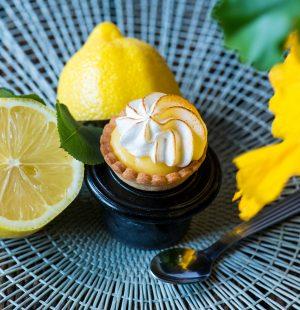 Mignardise Citron Meringue Verveine, Pâtisseries bio Huiles Essentielles, Géranium Framboise Lyon